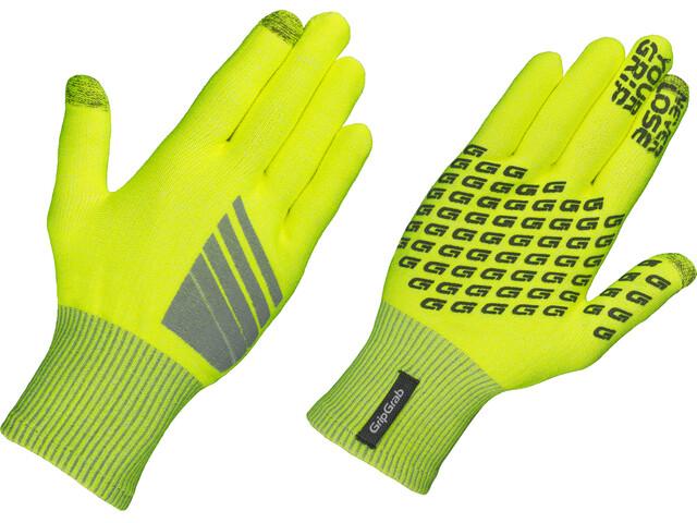 GripGrab Primavera Hi-Vis Gloves Fluo Yellow